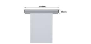 Papierklemmschiene  31cm grau Produktbild