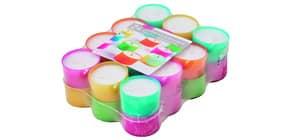 Teelicht 18ST weiß in farbiger Hülle Produktbild