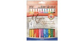 Astuccio matite multicolore KOH-I-NOOR legno di cedro 12 colori 12 matite + 1 blender - H3408013 Immagine del prodotto