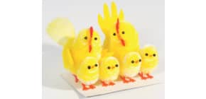 Chenille-Küken 6 Stück sortiert gelb Produktbild