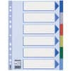 Esselte Register - blanko, A4, PP, 6-teilig + Deckblatt, farbig