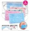 Gesichtsmaske für Kinder blau und rosa, sortiert