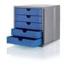 Schubladenbox Karma grau/blau ProduktbildAnwendungsdarstellungS