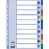 Esselte Register - blanko, A4, PP, 10-teilig + Deckblatt, farbig