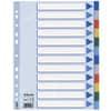 Esselte Register - blanko, A4, PP, 12-teilig + Deckblatt, farbig