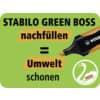 Textmarker Etui 4ST Green Boss ProduktbildPiktogramm 3S