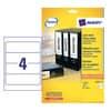 Etichette bianche per raccoglitori Avery Ultragrip™ 61x192 mm - 4 et/foglio - stampanti laser - Conf 25 fogli L4761-25 Immagine del prodotto Einzelbild 2 S