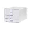 HAN Schubladenbox IMPULS - A4/C4, 3 geschlossene Schubladen, inkl. Einsatz, weiß