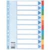 Esselte Register - blanko, Karton, A4, 10 Blatt, weiß, farbige Taben