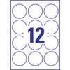 Etichette bianche lucide Avery Ø 60 mm - 12 et./foglio - stampanti laser - conf. 25 fogli - L7790-25 Immagine del prodotto Piktogramm S