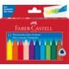 FABER-CASTELL Wachsmalkreiden - sortiert, 12er Kartonetui