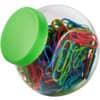 Büroklammer 200ST/26mm neon sortiert ALCO 2430-26 im Glas