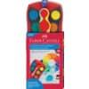 FABER-CASTELL CONNECTOR Farbkasten - 12 Farben, inkl. Deckweiß, rot