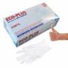 ECO-PLUS Einmalhandschuhe - Größe L, 100 Stück, Vinyl, weiß