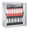 CP Stahl-Rollladenschrank OMNISPACE - mit Abdeckplatte und 2 Fachböden, hellgrau