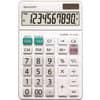 SHARP Tischrechner - Solar-/Batteriebetrieb, 10stellig, weiß