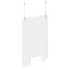 Exacompta ExaScreen, Schutzscheibe oder Trennwand zum Aufhängen, mit Befestigungsset, 100x66cm, kristall