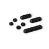DURABLE Kabel-Clip CAVOLINE® CLIP MIX - sortiert, graphit, Kunststoff, 7 Stück