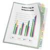 Veloflex® Registerhülle - PP, A4, transparente mit farbiger 5-fach Unterteilung