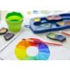FABER-CASTELL CONNECTOR Farbkasten - 12 Farben, inkl. Deckweiß, blau
