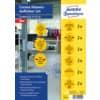 Avery Zweckform® 49400 Corona Hinweis-Aufkleber Set, Vorbedruckt, 200 mm, gelb, schwarz, 12 Stück