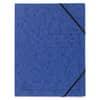 Exacompta Sammelmappe - A4, 355 g/qm, Gummizug, blau