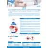 Gel igienizzante mani a base alcolica Sanitec Sani Gel Alcol 70% - trasparente - flacone 600 ml, con dosatore - 1033 Immagine del prodotto Produktdatenblatt S