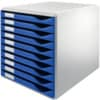 Leitz 5281 Schubladenset Formular-Set - A4/C4, 10 geschlossene Schubladen, lichtgrau/blau
