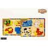 Puzzle Holz Tiere 2fach soriert 610076 30x22cm im Display