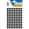Haftetiketten D8mm schwarz ProduktbildSingle ImageS