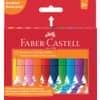 FABER-CASTELL Radierbare Kreide JUMBO, ergonomische Dreikantform, 12 Kreiden farbig im Etui