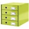 Schubladenbox Wow metallicgrün LEITZ 6049-00-64 4Laden Click&