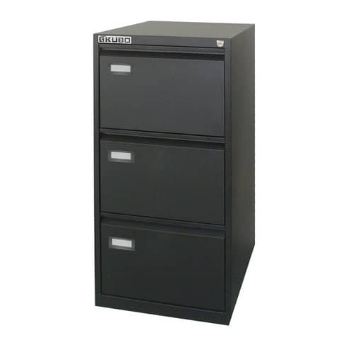 Classificatore per cartelle sospese KUBO 3 cassetti 46x62x101 cm nero 4103