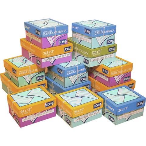 "Moduli continui ""CARTA BIANCA"" Form 2 copie chimiche piste staccabili bianco scatola da 1000 moduli - 61030128"