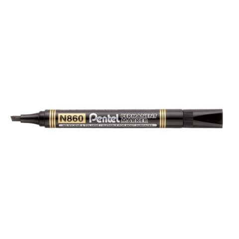 Marcatore permanente Pentel N860 punta a scalpello 4.5 mm nero N860-AE