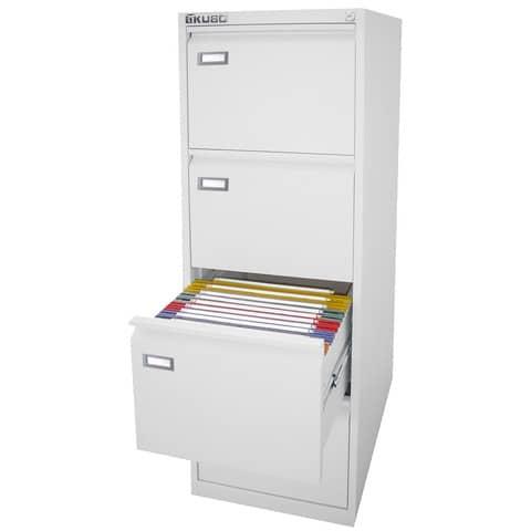 Classificatore per cartelle sospese KUBO 4 cassetti 46x62x132 cm bianco 4304
