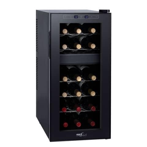 Cantinetta 18 bottiglie Melchioni volume 50 l - due vani separati nero 118700218