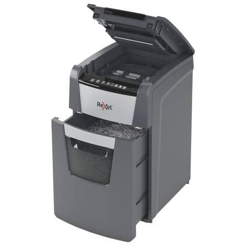 Distruggidocumenti Optimum AutoFeed+ 130X EU Rexel taglio a frammenti 4x28 mm DIN P-4 - nero 2020130XEU Immagine del prodotto Einzelbild 6 XL