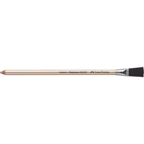 Gomma a penna Faber-Castell Perfection 7058-B con spazzolino per dattilo bianca 185800
