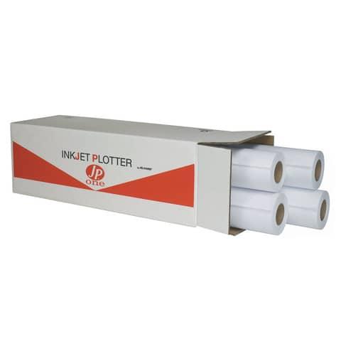 Carta plotter JP ONE finitura opaca 61 cm x 50 mt 80 g/m² Conf. 4 pezzi - 9206