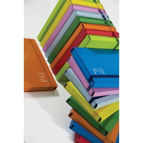 Cartella a 3 lembi con elastico piatto BREFIOCART NEW COLOR 25x35 cm dorso 3 cm rosa - 0221303.RC