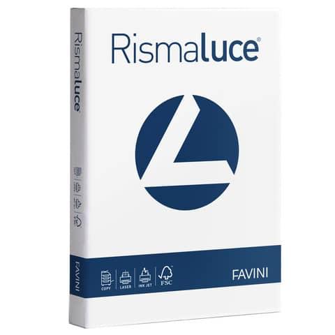 Carta per fotocopie A4 Favini Rismaluce Bianca 200 g/m² Risma da 125 fogli - A670104
