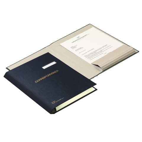Cartella portacorrispondenza FRASCHINI 24x34 cm in dermoide con dorso a V espandibile fino a 4 cm rosso - 603-DR