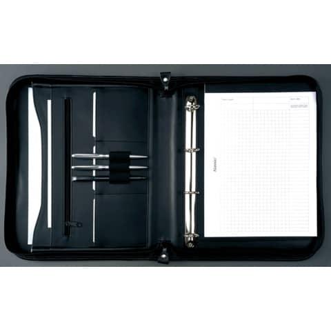 Cartella portadocumenti Alassio LIMONE in pelle 28,5x4x36 cm A4 nero 30014