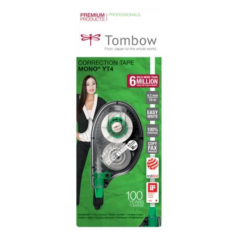 Correttore a nastro Tombow EASY WRITE TAPE bianco 4,2 mm x 10 m TOCT-YT4 Immagine del prodotto Einzelbild 1 XL