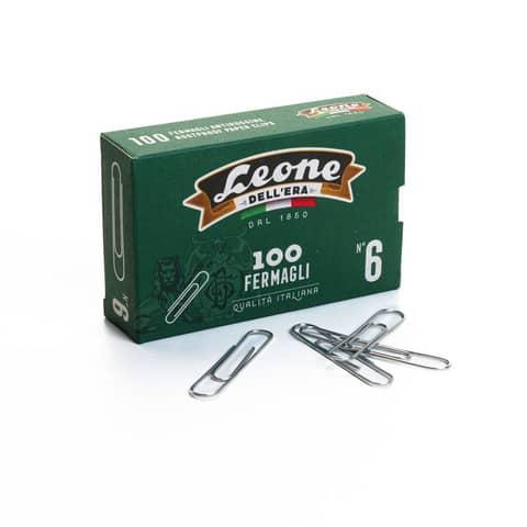 Fermagli Leone in filo zincato ritrafilato N. 6 1,2x58 mm rotondi zinco brillante  scatola da 100 pz. - FZ6
