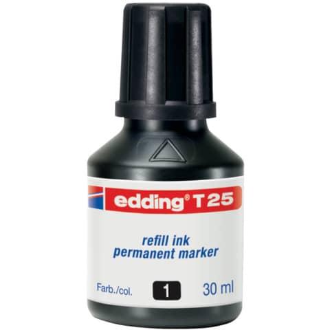 Inchiostro permanente per ricarica edding T 25 nero - 30 ml 4-T25001