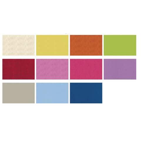 Carta da regalo in fogli Rex-Sadoch Ecocolor Kraft Light 70x100 cm assortiti pastello Conf. 50 pezzi - 74450LIT