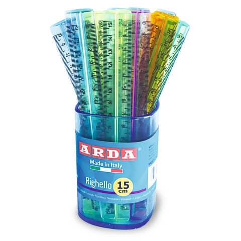 Righello ARDA Uni polistirolo colori assortiti Conf. 50 pezzi - 282C