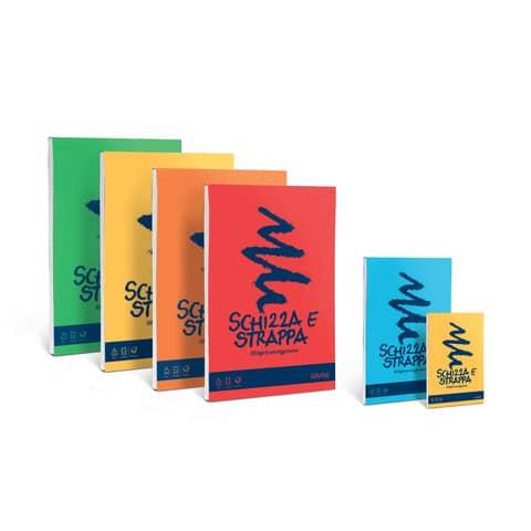 Album da disegno FAVINI SCHIZZA&STRAPPA in leggerissima carta naturale liscia 50 g/m² A3  1 blocco-150fg - A200703